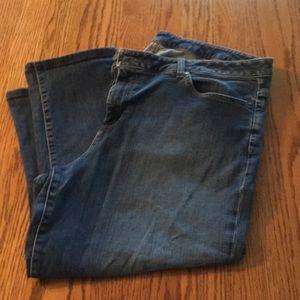 Talbots slim crop jeans. Size 18